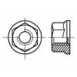 Matice s límcem šestihranná M3 ocel Povlak: zinek 5,5mm