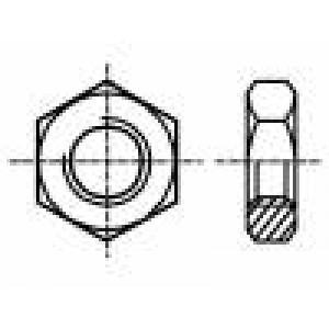 Matice šestihranná M3 mosaz Stoupání:0,5 5,5mm BN:508