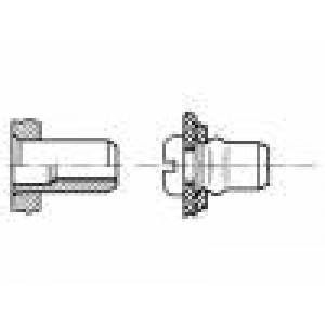 Nýtovací matice M4 hliník BN:4576 Øotv:6,1mm L:11,5mm