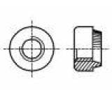 Matice kulatá M4 nerezová ocel A1 BN:639 lisovací