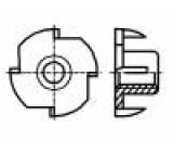 Matice zarážecí M5 ocel Povlak: zinek Stoupání:0,8 BN:226