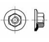 Matice s límcem šestihranná M5 ocel Povlak: zinek 8mm BN:712