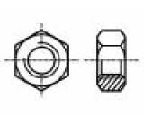 Matice šestihranná M6 ocel Povlak: zinek H:5mm Stoupání:1,0