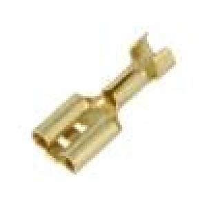Konektor plochý 6,3mm 0,8mm zásuvka 1÷2,5mm2 krimpovací