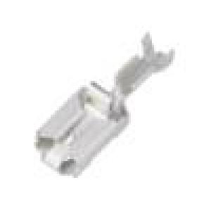 Konektor plochý 6,3mm 0,8mm zásuvka 0,5÷1,5mm2 krimpovací