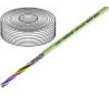 Vodič 4x0,5mm2 stíněný PVC šedá 500V LiY-CY