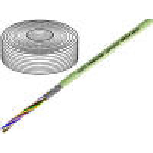 Vodič 8x0,5mm2 stíněný PVC šedá 500V LiY-CY