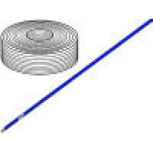 Vodič LifY licna Cu 1x1mm2 PVC modrá 300/500V -15÷70°C 100m