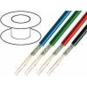 Vodič: mikrofonní 2x0,35mm2 OFC PE -30÷75°C Ø6,3mm černá 100m