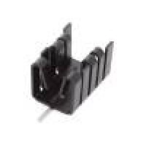 Chladič lisovaný TO221 černá L:25,4mm W:14,5mm H:13,51mm