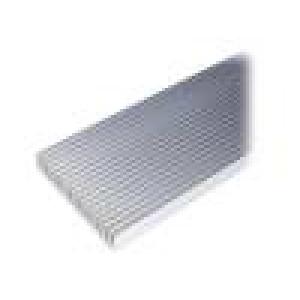 Chladič lisovaný žebrovaný přírodní L:1000mm W:130mm H:25mm