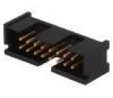 Zásuvka IDC vidlice PIN:16 přímý THT zlacený 2,54mm