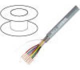Vodič 4x0,25mm2 stíněný PVC šedá LiY-CY 49VAC 75Ω/km