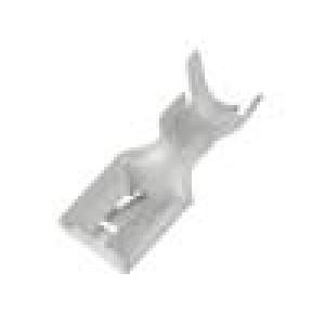 Konektor plochý 9,5mm 1,2mm zásuvka 6÷10mm2 krimpovací přímý
