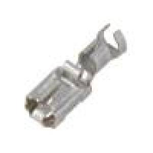 Konektor plochý 6,3mm 0,8mm zásuvka 4÷6mm2 krimpovací přímý
