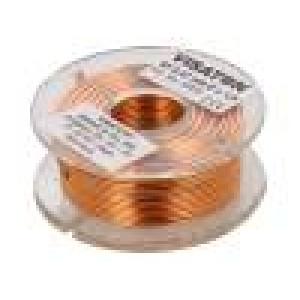 Tlumivka: vzduchová cívka 0,47mH 0,36Ω Prům.vod:1mm Ø:48mm
