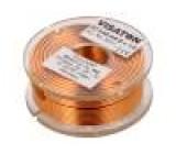 Tlumivka: vzduchová cívka 0,68mH 0,45Ω Prům.vod:1mm Ø:48mm