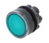 Přepínač: tlačítkový 1-polohové 22mm zelená IP66 Polohy: 2