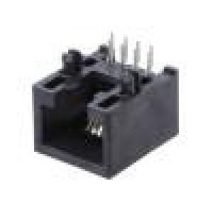 Zásuvka RJ45 PIN:8 Kat:5e nestíněné, nízkoprofilové zlacený