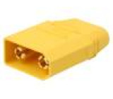 Zástrčka napájecí DC vidlice na kabel pájení Barva: žlutá 90A