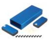 Kryt: s panelem 1455 X:54mm Y:120mm Z:23mm hliník modrá