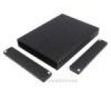 Kryt: s panelem 1455 X:165mm Y:220mm Z:30mm hliník černá