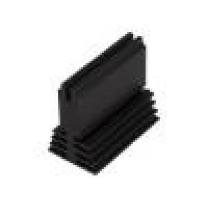 Chladič lisovaný černá L:50mm W:29,4mm H:45mm 4,5K/W hliník