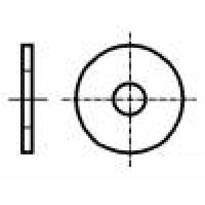 Podložka kulatá M3 D=9mm h=0,8mm nerezová ocel A2 DIN:9021