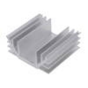 Chladič: lisovaný U L:70mm W:74mm H:30mm hliník