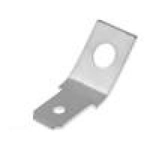 Konektor: plochý 6,3mm 0,8mm kolík M4 přišroubováním mosaz