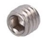 Šroub M6x5 DIN:913 Hlava: bez hlavy imbus nerezová ocel A2