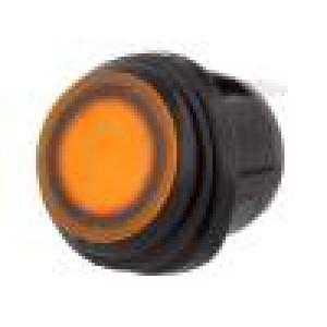 ROCKER 2 polohy SPST ON-OFF 20A/14VDC žlutá IP65 LED 14V DC