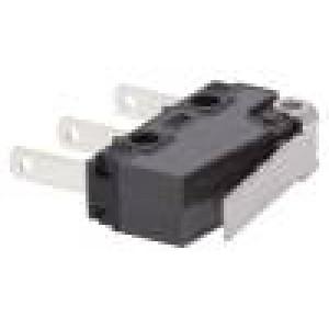 Mikrospínač s páčkou SPDT 5A/250VAC 5A/30VDC ON-(ON) IP40