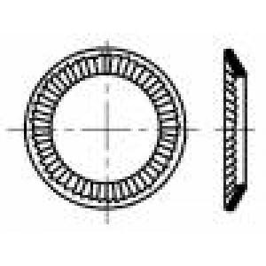 Podložka kónická M3 D=5,5mm h=0,95mm nerezová ocel A2