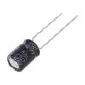 Kondenzátor elektrolytický THT 470uF 10VDC Ø8x11,5mm ±20%