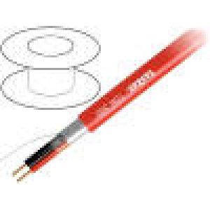 Vodič: reproduktorový 2x1mm2 licna OFC červená LSZH 100m