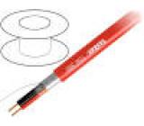Vodič: reproduktorový 2x2,5mm2 licna OFC červená LSZH