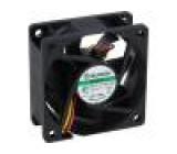 Ventilátor: DC axiální 12VDC 60x60x25mm 45,63m3/h 31,2dBA
