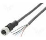 Připojovací kabel M12 PIN:5 přímý 2m zástrčka 30VAC 4A 36VDC