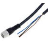 Připojovací kabel M8 PIN:3 přímý 2m zástrčka 60VAC 4A IP68