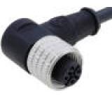 Připojovací kabel M12 PIN: 4 úhlový 2m zástrčka 250VAC 4A