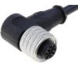 Připojovací kabel M12 PIN:4 úhlový 5m zástrčka 250VAC 4A