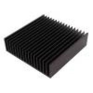 Chladič: lisovaný žebrovaný černá L:150mm W:150mm H:40mm 1K/W