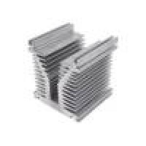 Chladič: lisovaný Y L:120mm W:126mm H:136mm hliník