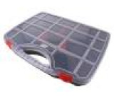 Zásobník: krabička s přihrádkami 460x330x80mm černá 12l