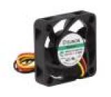 Ventilátor: DC axiální 12VDC 40x40x10mm 11,83m3/h 20,6dBA