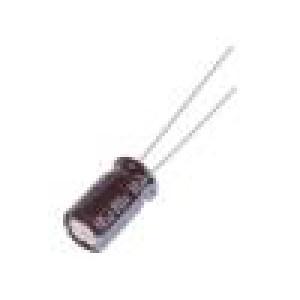 Kondenzátor elektrolytický s nízkou impedancí THT 10uF 80VDC