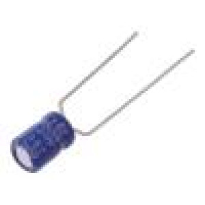Kondenzátor elektrolytický THT 47uF 16VDC Ø5x7mm ±20% 2000h