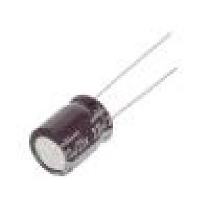 Kondenzátor elektrolytický s nízkou impedancí THT 220uF ±20%