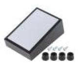 Kryt: panelová PULT-10 X:56mm Y:85mm Z:36mm ABS černá